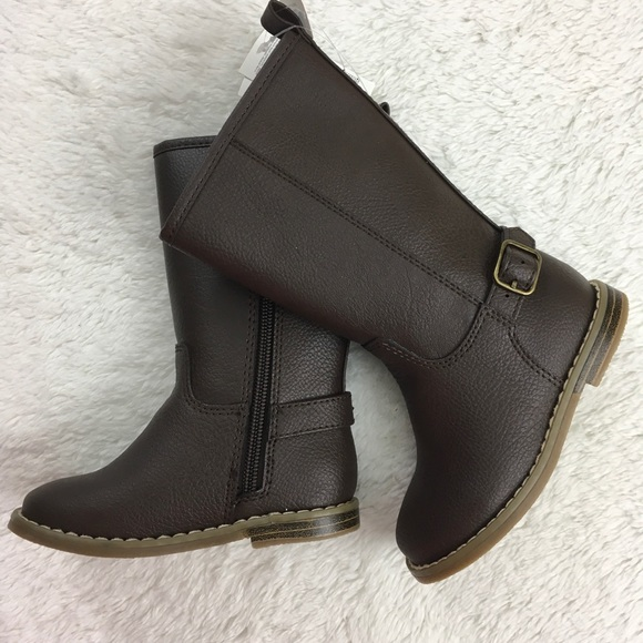ff31bde12 Toddler girls brown faux leather riding boots Gap NWT